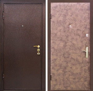 Входная металлическая дверь порошок + винилискожа СП297