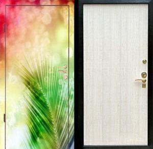 Входная металлическая дверь фотопечать и ламинат СП052
